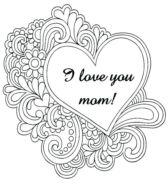 583x638 Coloring Pages That Say I Love You I Love You Coloring Pages