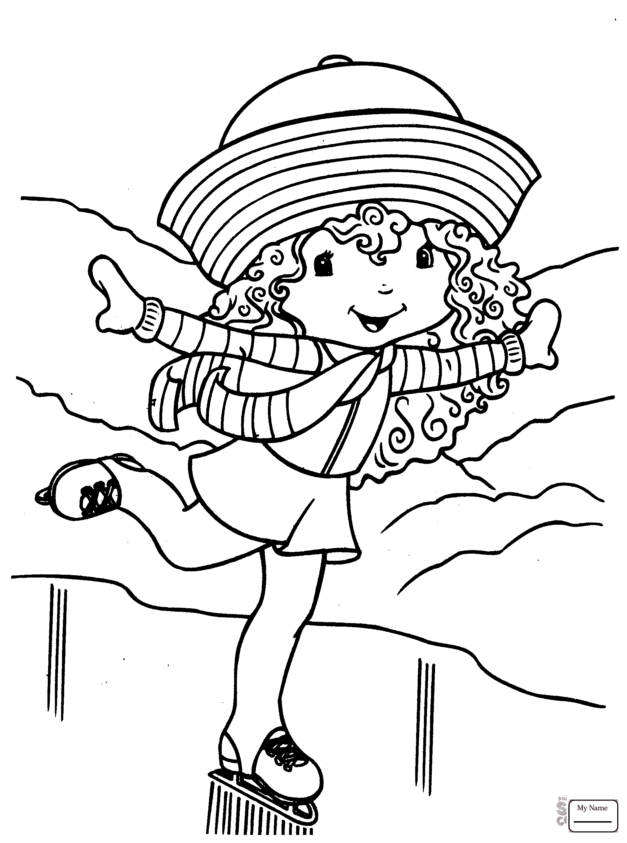 2022x2715 Activities Ice Skating Performance Coloring Pages Free Figure