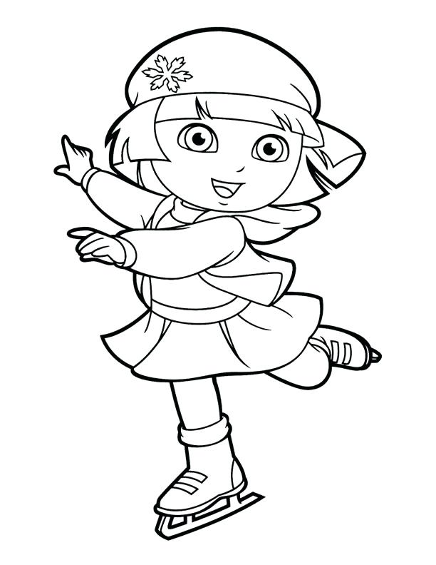 612x792 Dora Coloring Pages Coloring Pages Ice Skating Dora Explorer