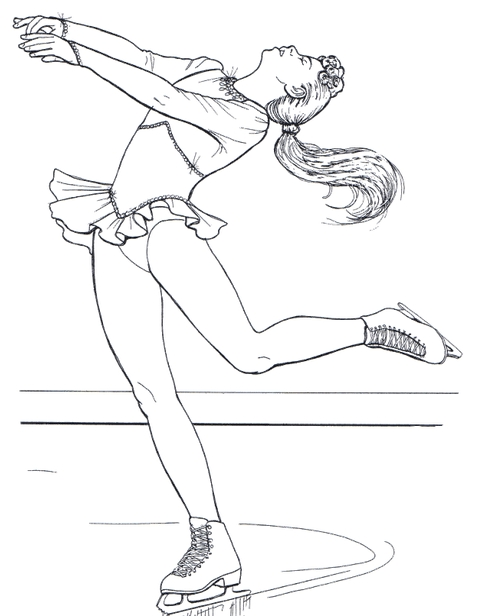 491x616 Figure Skating Coloring Pages Favorite Drawings