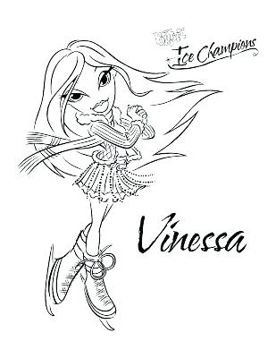 309x400 Free Bratz Coloring Pages Coloring Pages Ice Skating Coloring