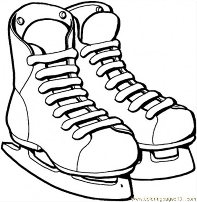 650x667 Ice Skates Coloring Page Coloring Page