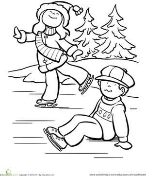 301x362 Ice Skating Worksheet