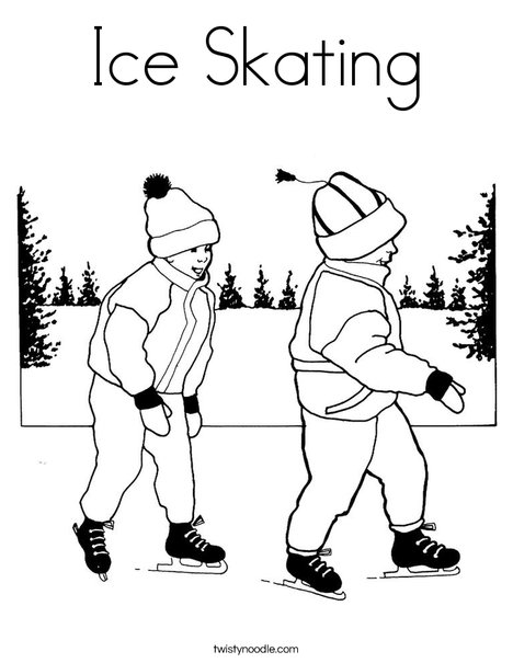 468x605 Ice Skating Coloring Page
