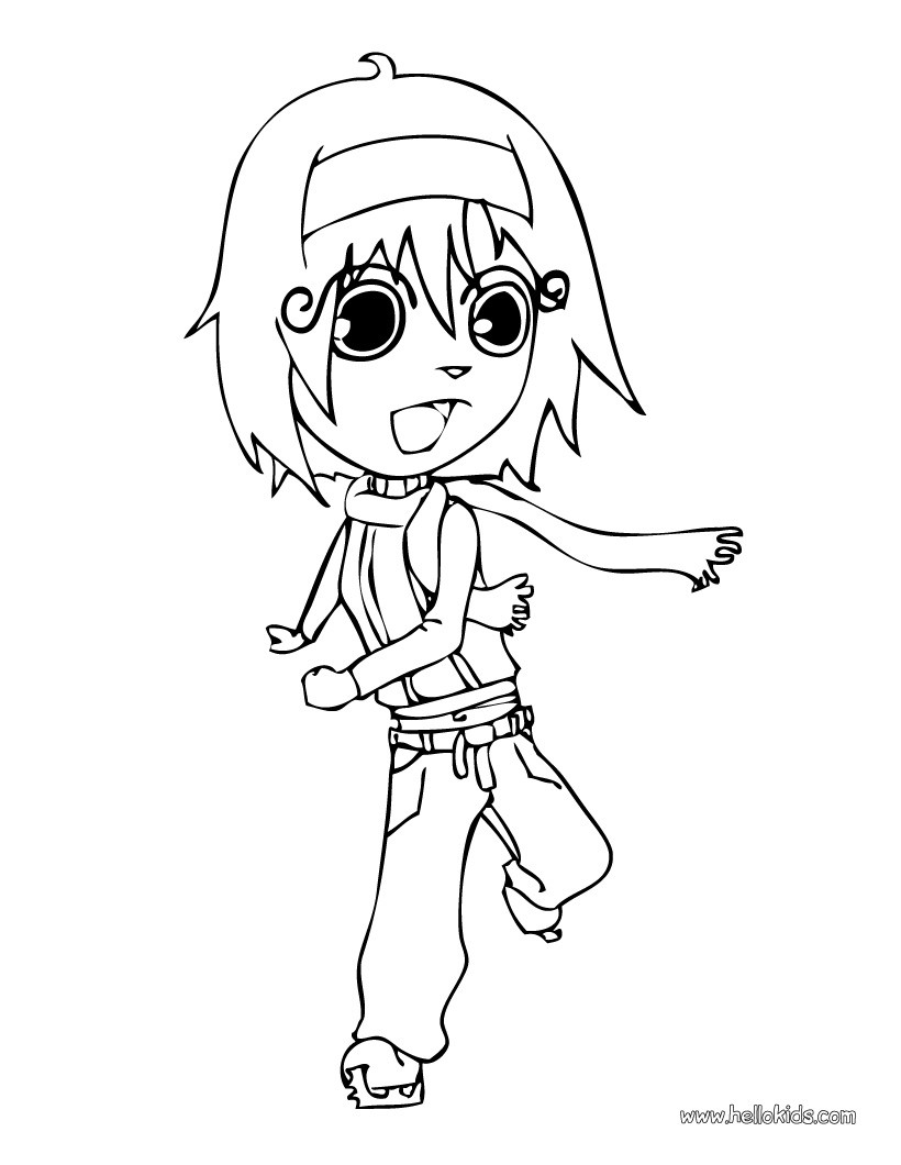 820x1060 Ice Skating Boy Coloring Pages