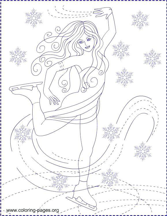 579x748 Skating Coloring Pages Ice Skating Mickey Mouse Ice Skating