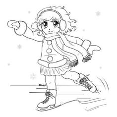 236x236 Ice Skating Coloring Page For Kids Ice Skating Coloring Pages