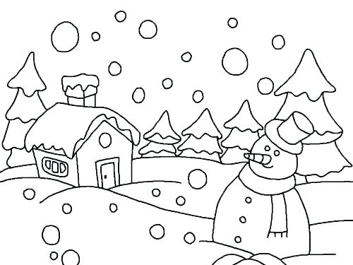 500x375 Snow Coloring Page Awesome Snow Coloring Images Coloring Snow
