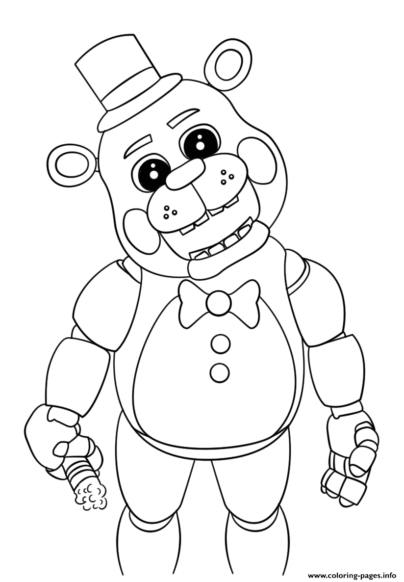 824x1186 Toy Bonnie Coloring Pages