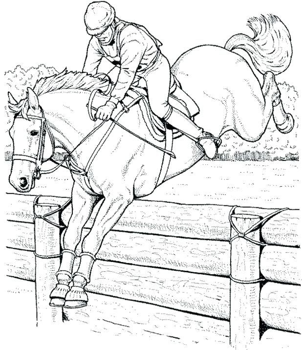 618x716 Horse Jumping Coloring Pages