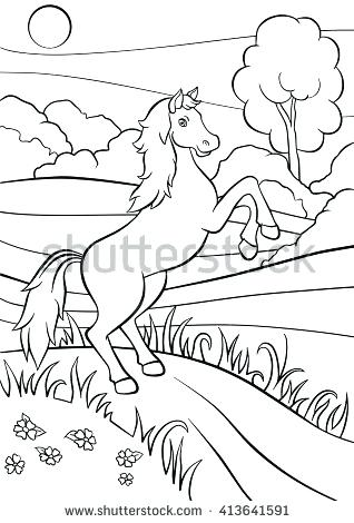318x470 Horse Jumping Coloring Pages Coloring Pages Animals Cute Horse