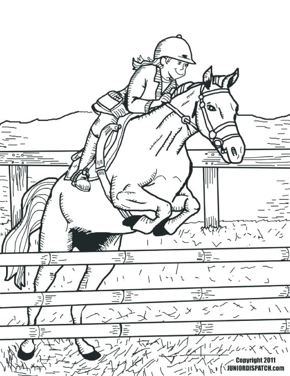 570x737 Horse Jumping Coloring Pages Horse Jumping Coloring Pages
