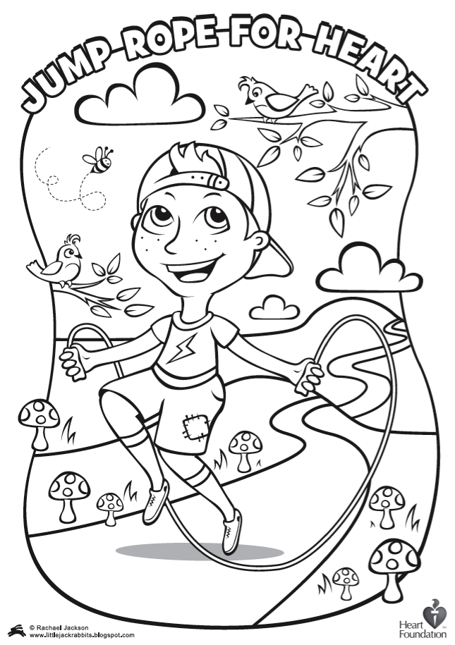 645x915 Jump Rope Coloring Pages Download And Print For Free Jump Rope