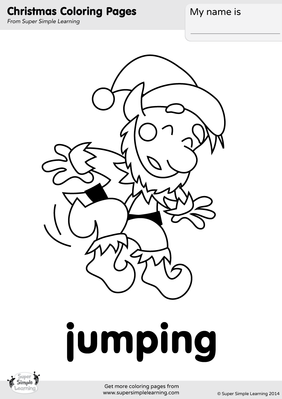 905x1280 Jumping Coloring Page Super Simple