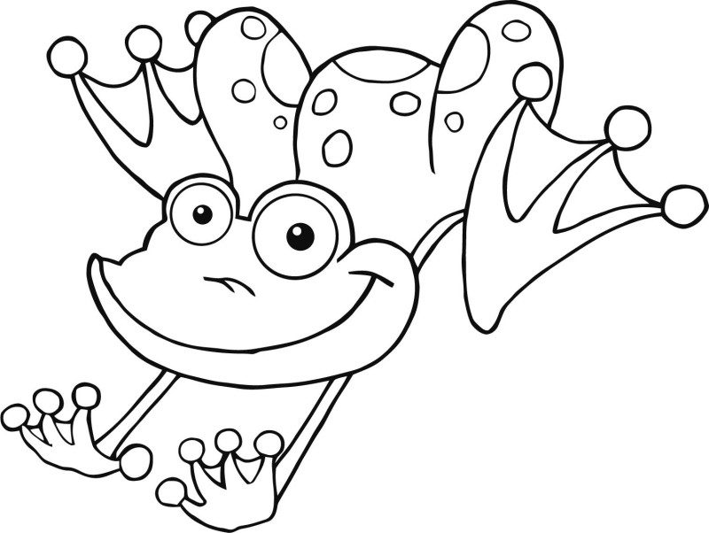 800x602 Jumping Frog Coloring Page Jumping Frog Coloring Pages Color