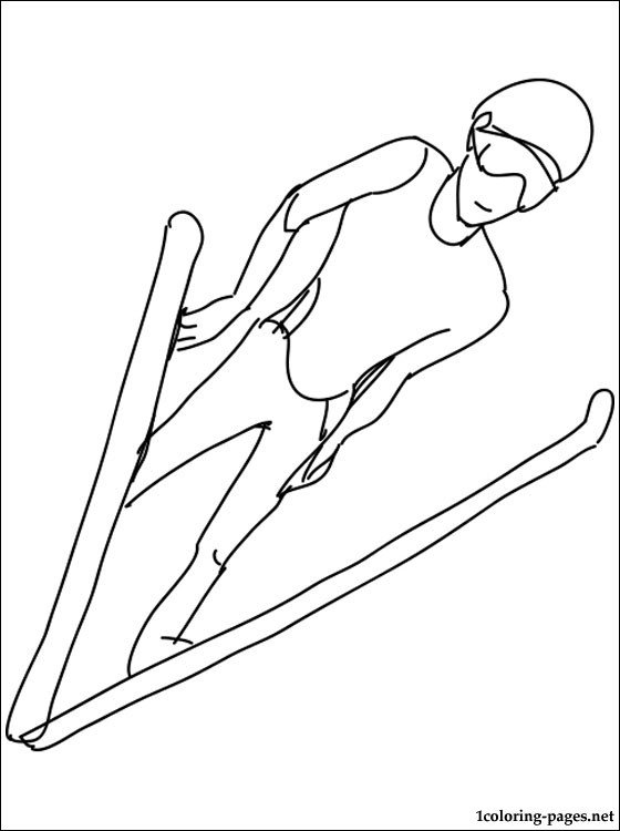 560x750 Ski Jumping Coloring Page Coloring Pages
