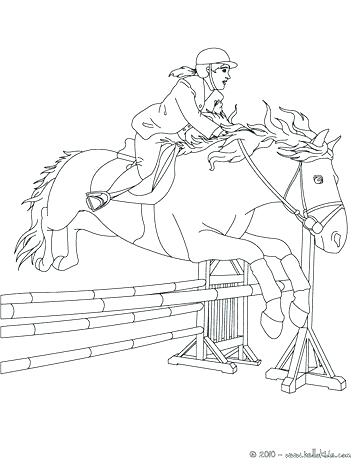 364x470 Free Horse Jumping Coloring Pages