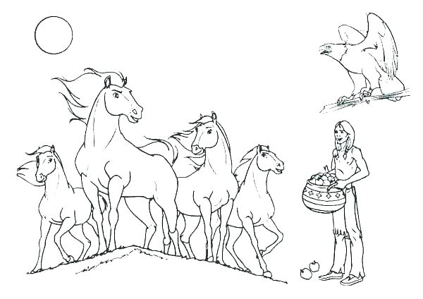 600x424 Horse Jumping Coloring Pages Grandmaman Site