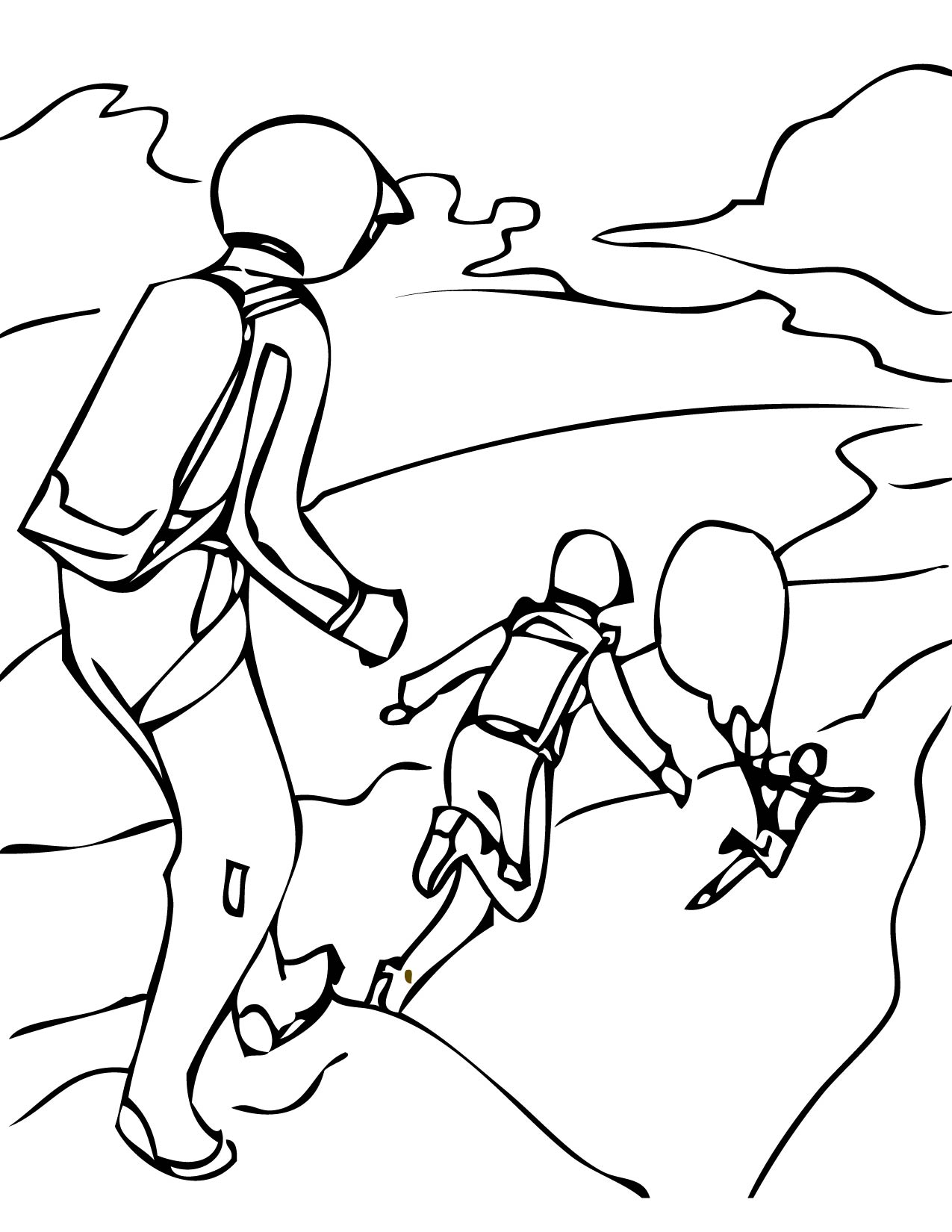 1275x1650 Base Jumping Coloring Page