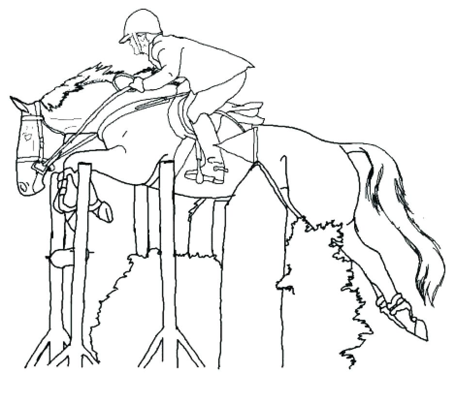 940x836 Coloring Page Of A Horse Pages To Color Racing Free Printable