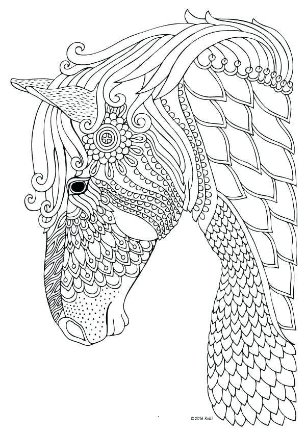 600x849 Coloring Pages Horses Detailed Adult Coloring Pages Horses