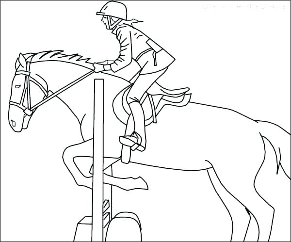 600x499 Coloring Pages Horses Horse Jumping Riding Beautiful Spirit