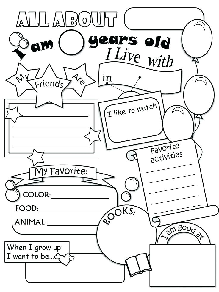 736x981 All About Me Coloring Pages Worksheets