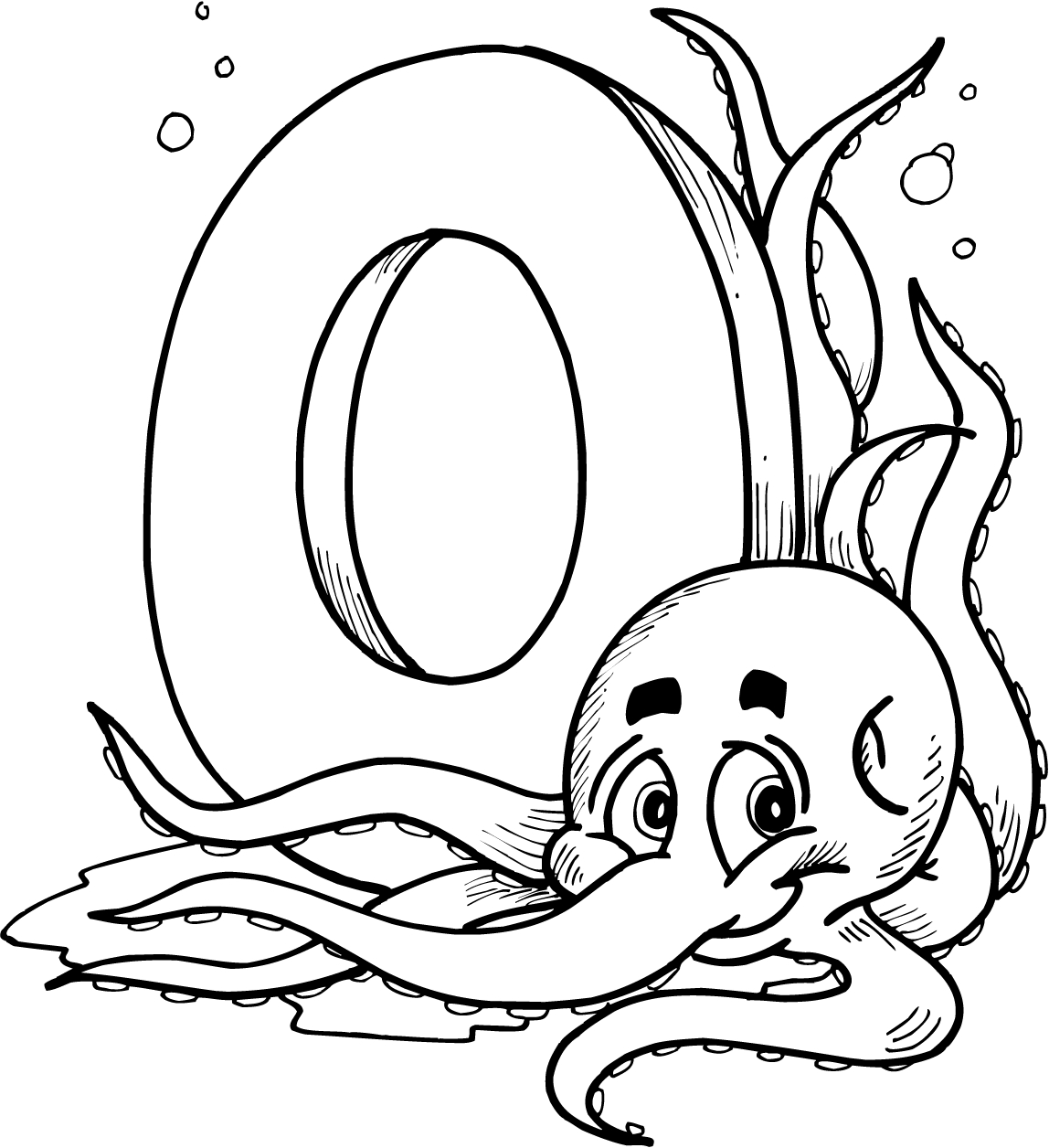 1148x1256 Letter O Coloring Pages Printable For Kids
