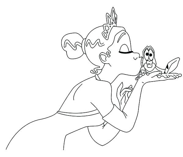 600x514 Princess Coloring Page Princess Kiss Frog In Princess