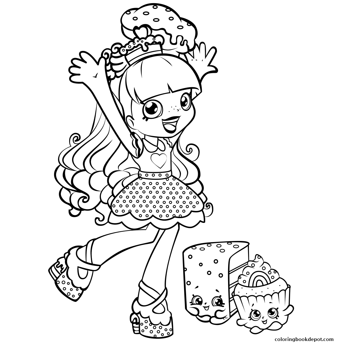 1200x1200 Shopkins Coloring Pages Candy And Kiss Printable