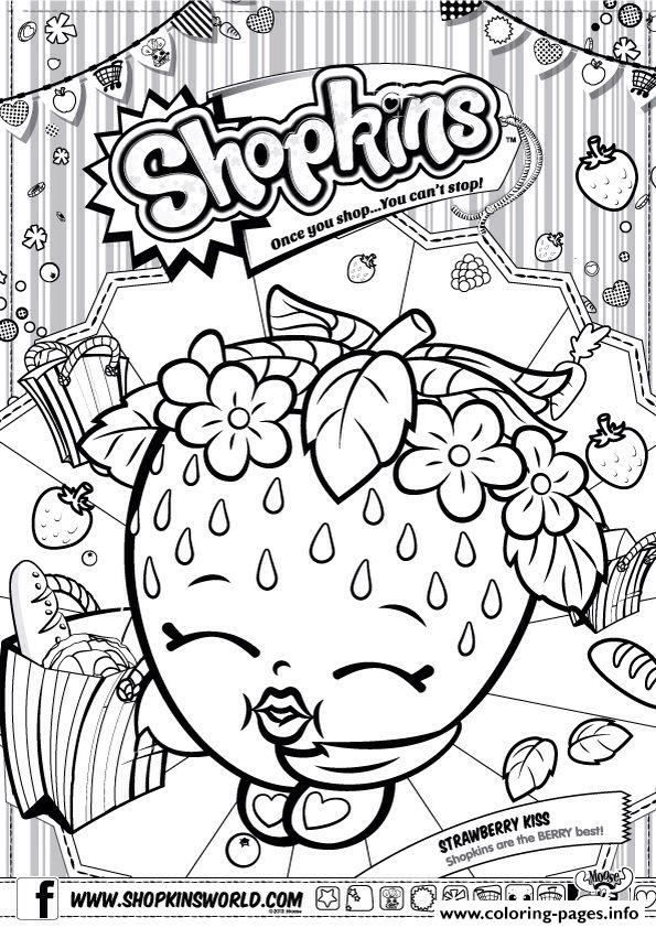 595x842 Shopkins Strawberry Kiss Coloring Pages Printable