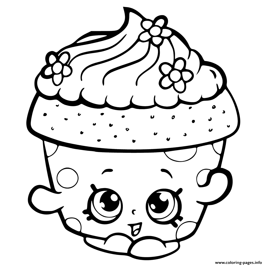 1024x1024 Strawberry Kiss Shopkins Coloring Page Collections