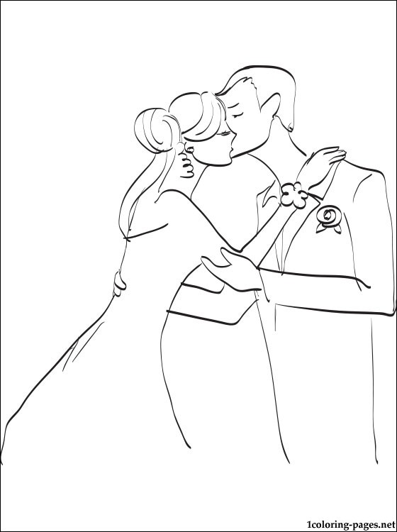 560x750 Wedding Kiss Coloring Page Coloring Pages