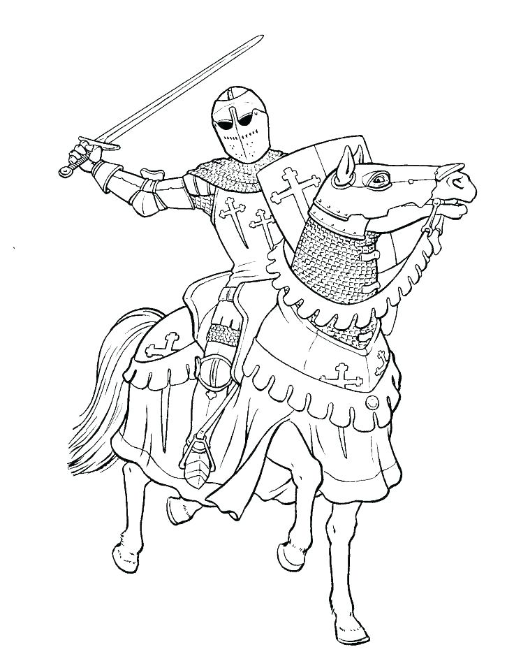 736x946 Coloring Pages Of Knights Coloring Page Knight Colouring Pages