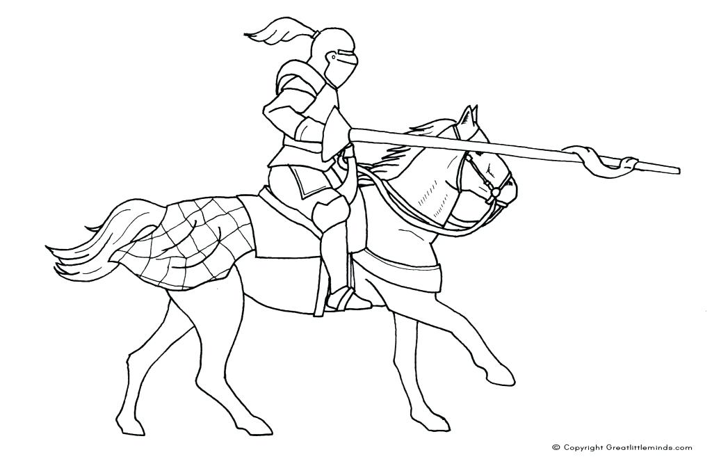 1024x670 Coloring Pages Of Knights Coloring Page Knight Pages Of General