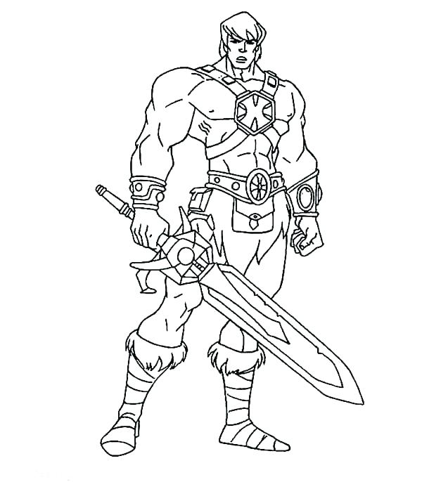600x686 Coloring Pages Of Knights Person Coloring Page He Man The Knights