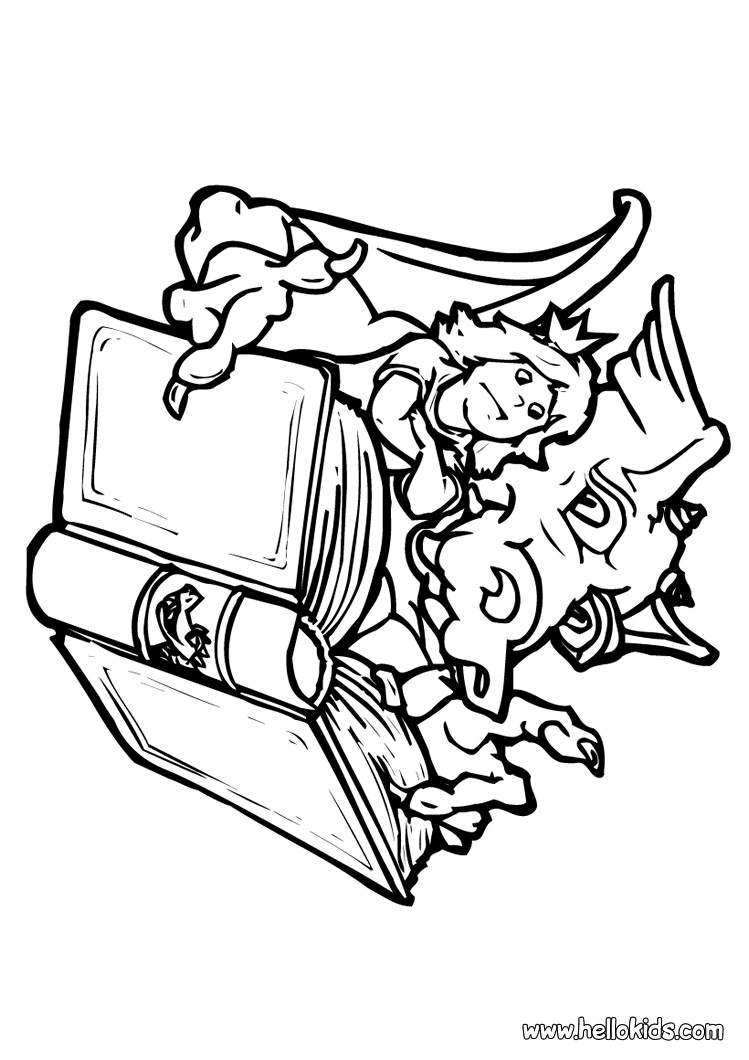 749x1060 Dragon Coloring Pages