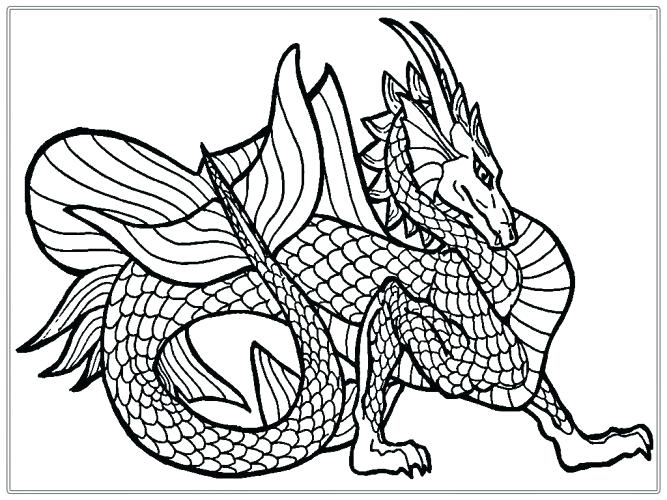 667x500 Coloring Page Coloring Page Dragon Sea Serpent Free Pages Medium