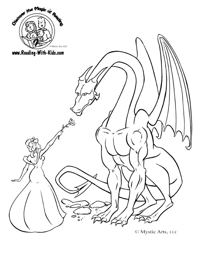 684x885 Fantasy And Dragon Coloring Pages