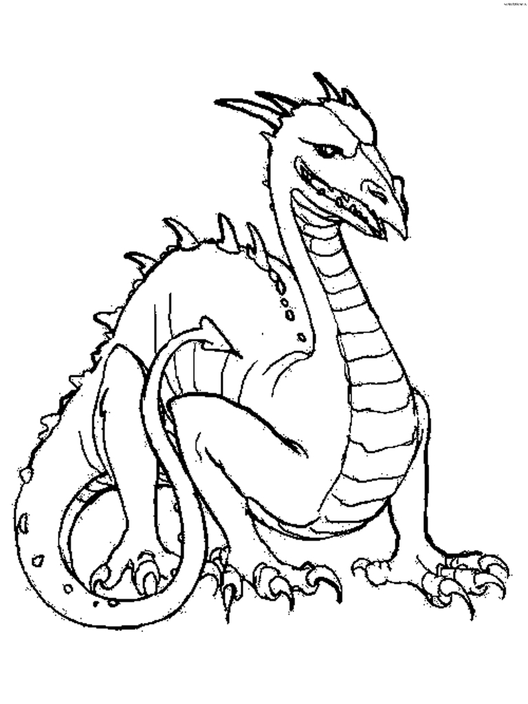 768x1024 Printable Dragon Coloring Pages Adult Dragons Free Animal Komodo