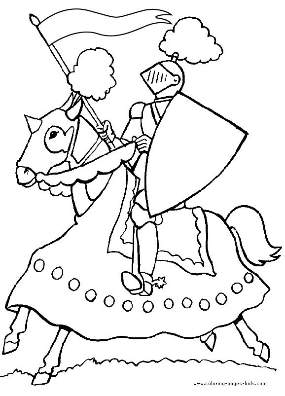 578x803 Knight Dragon Coloring Pages