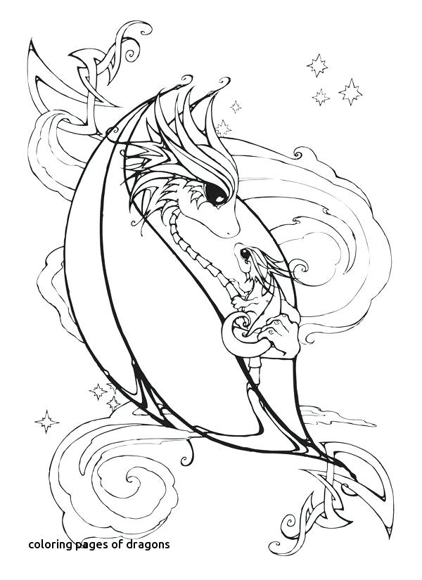 600x825 Coloring Pages Dragons Best Color Dragon Unicorn Horse Images