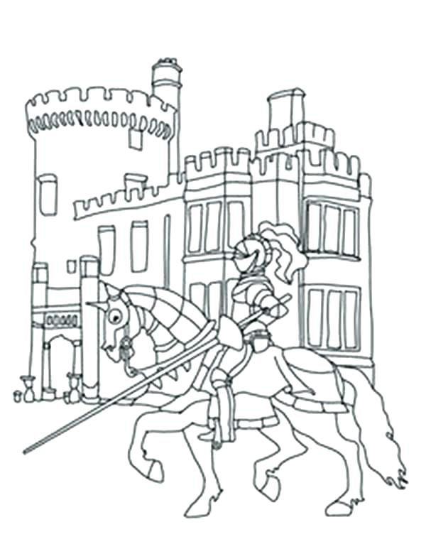 600x773 Coloring Pages Of Knights Castle Coloring Page Knights Knights