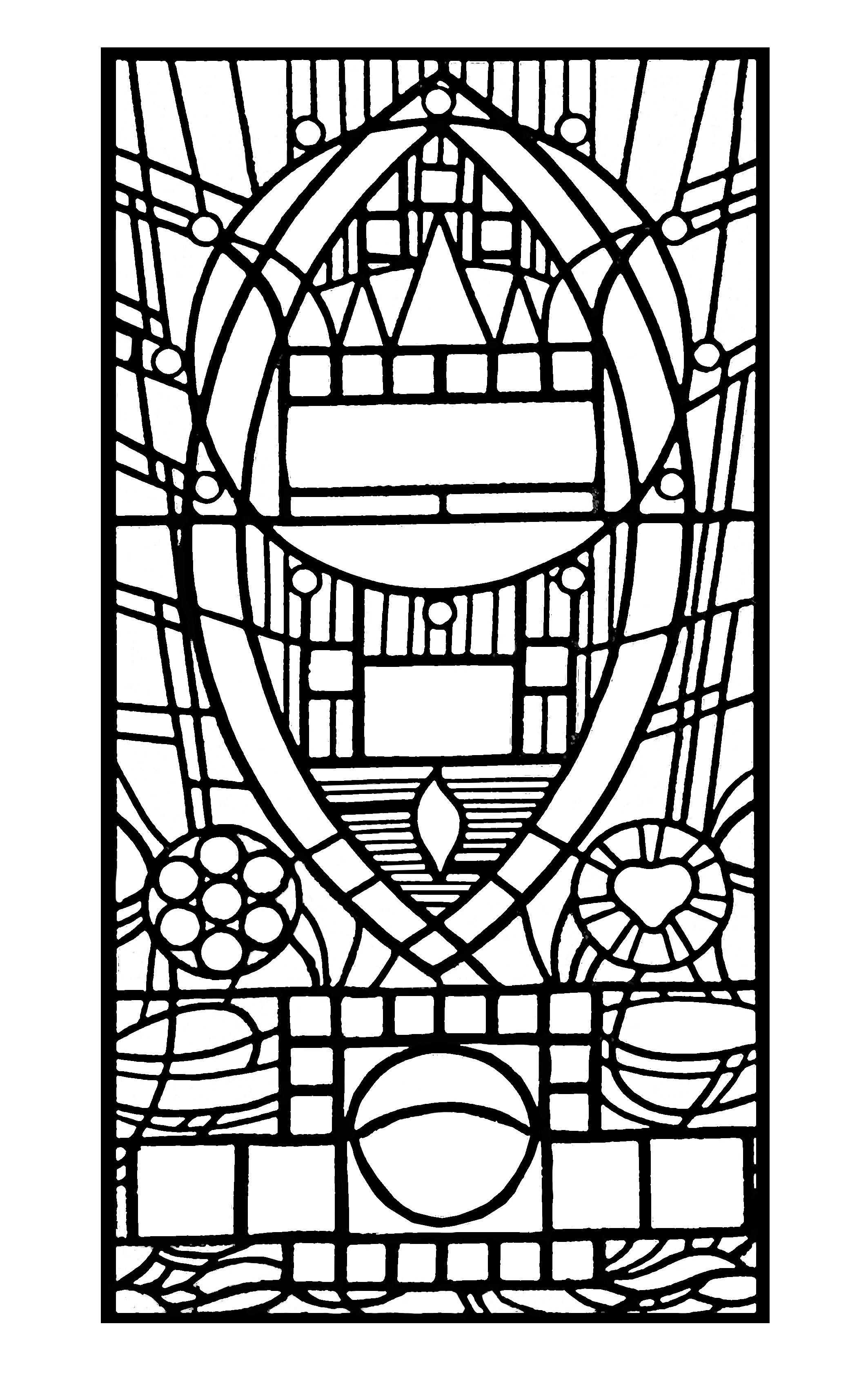 2126x3362 Free Coloring Page Coloring Adult Stained Glass De L Apparition