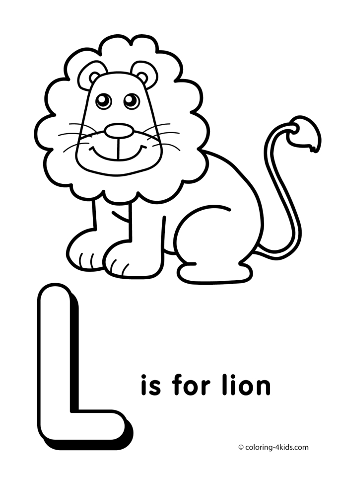 685x960 Get This Letter L Coloring Pages Lion