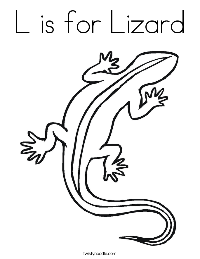 685x886 L Is For Lizard Coloring Page