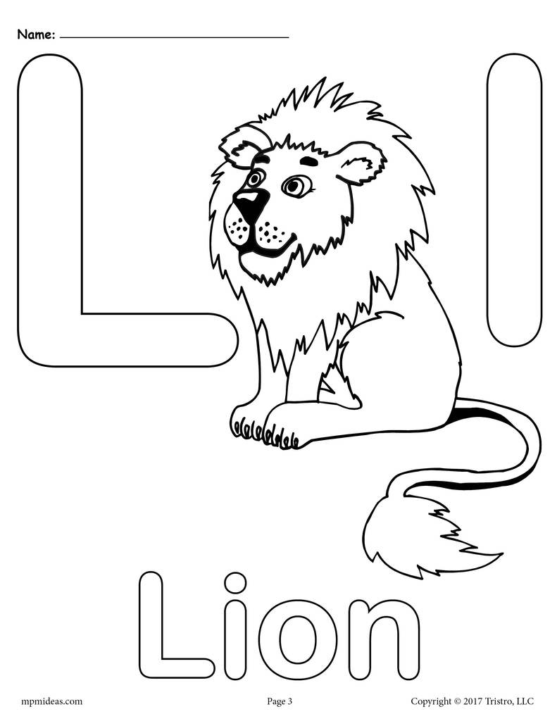 791x1024 Letter L Alphabet Coloring Pages