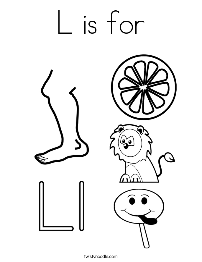 685x886 Letter L Coloring Pages