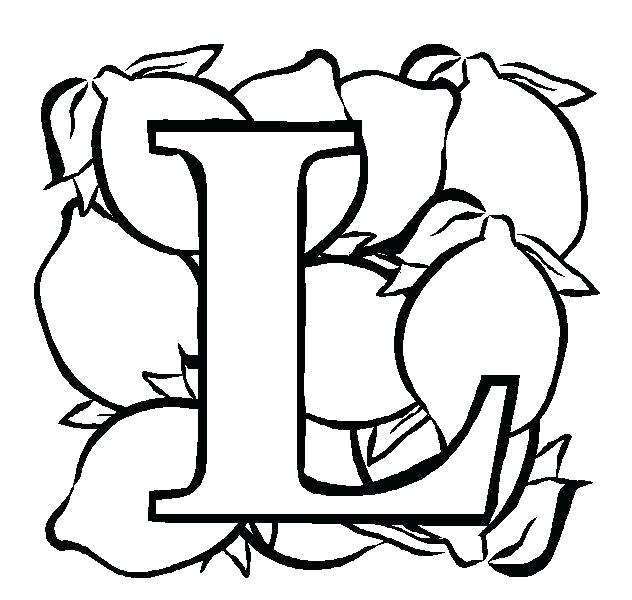 632x600 Letter L Coloring Pages Funky Dotted Letter L Alphabet Coloring