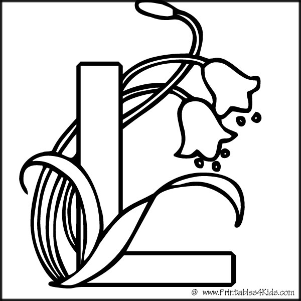 600x600 Letter L Printable Coloring Pages